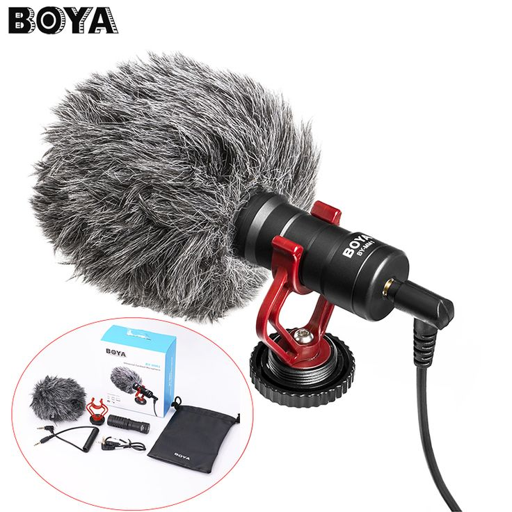 BOYA BY-MM1 Compact On-Camera Video Microphone Youtube Vlogging Recording Mic for iPhone HuaWei Smartphone DJI Osmo Canon DSLR //Price: $69.91      #FirstDayOfSummer