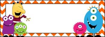 Here are four different monster name tags that you can print, cut, and laminate to use all around your classroom! ...