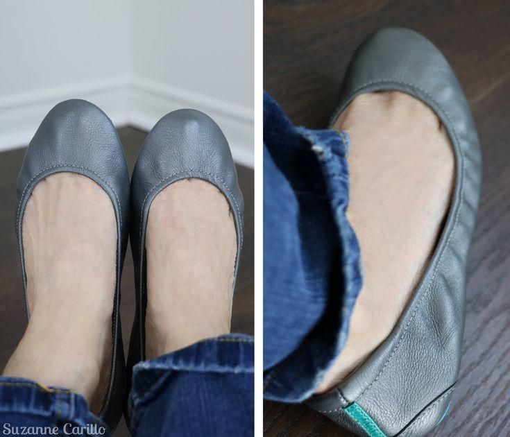 Metallic Pewter Tieks Leather Ballet Flats Silver Size 7 US by VintageBySuzanne on Etsy