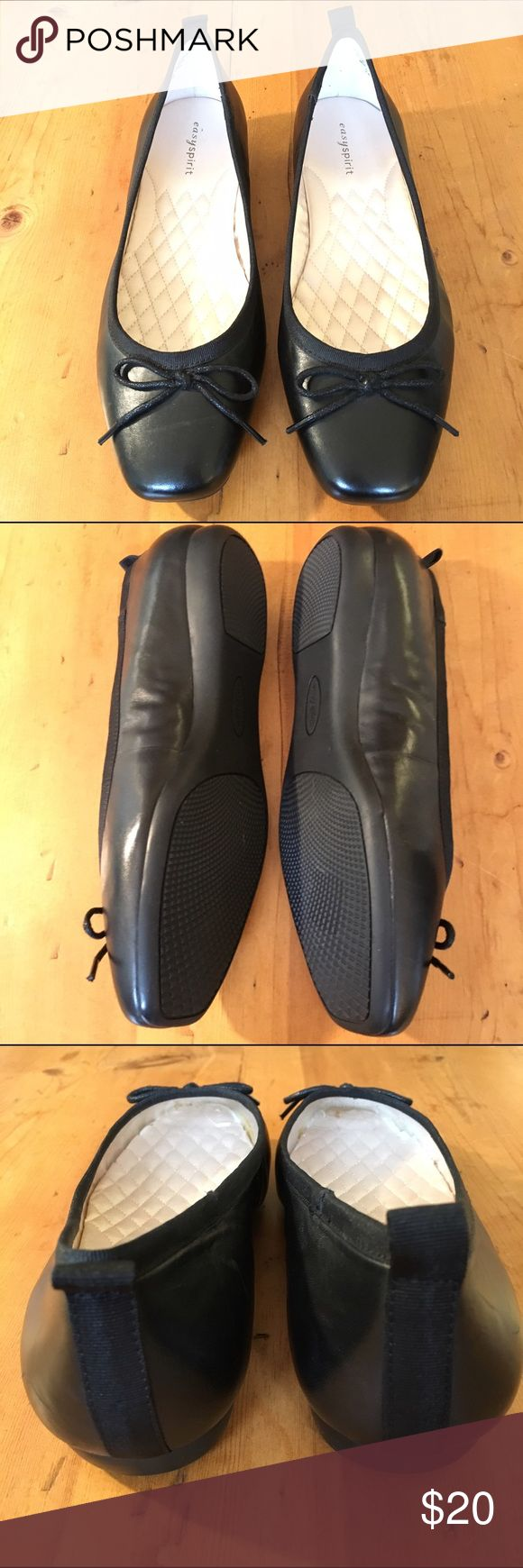 Easy Spirit Black Flats Never worn size 8wide leather classic and a great basic dress up or down Easy Spirit Shoes Flats & Loafers