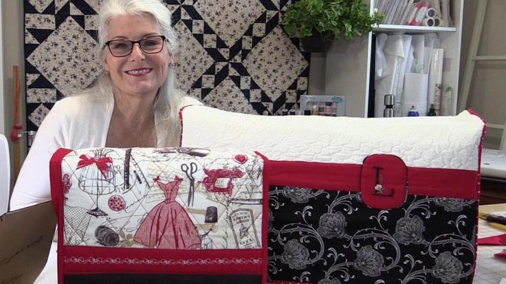 3 measurements are all you need to make your own custom sewing machine cover. And you get them from your own machine. Fabric http://ttfabrics.com/fabric/vint...