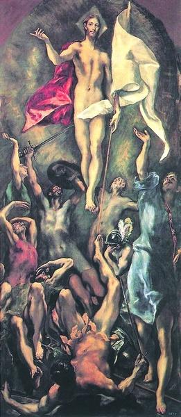 """2005.13 // Dominikos Theotokópulos, zwany El Greco,""""Zmartwychwstanie"""", olej na płótnie, 1596–1600, Muzeum Prado (Madryt)"""
