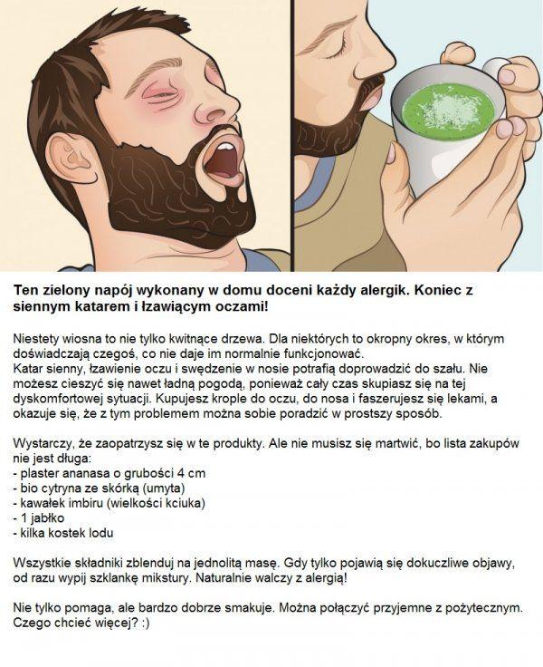 Ten zielony napój wykonany w domu doceni każdy alergik. Koniec z siennym katarem i łzawiącymi oczami!!!