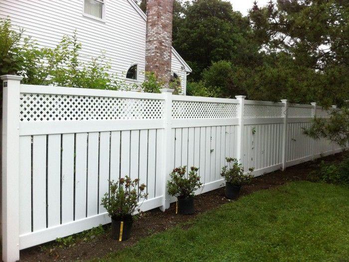 Vinyl lattice fence installation woodworking projects