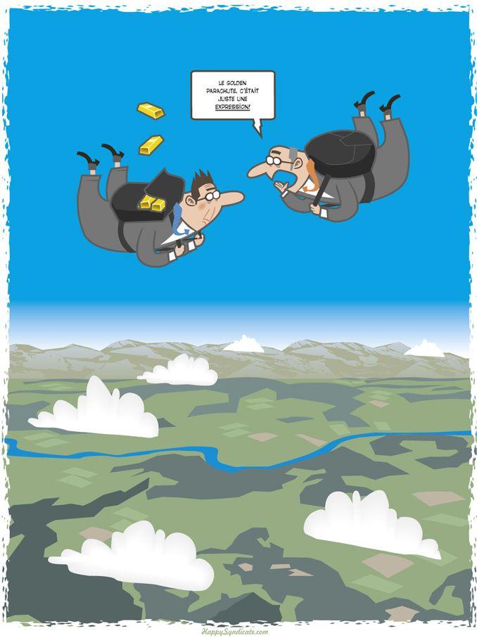 Le golden parachute, c'était juste une expression! © Christophe Bertschy