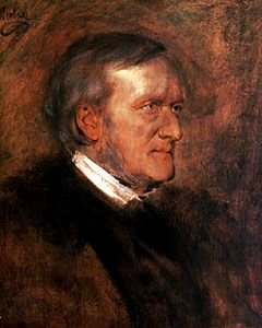 Richard Wagner (1813-1883), painting (1882), by Franz von Lenbach (1836-1904).