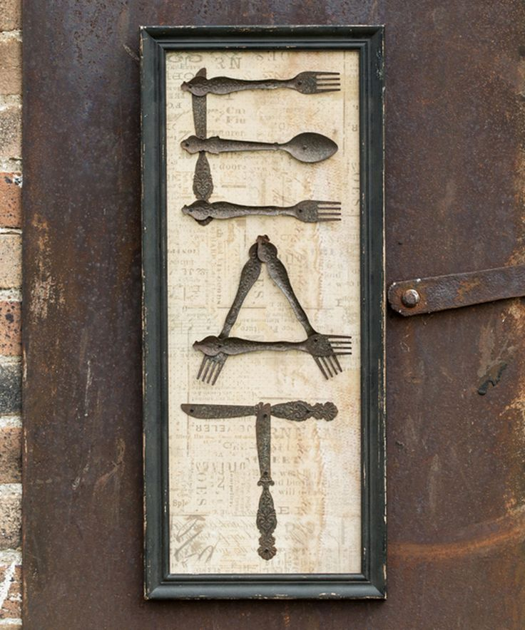 Look at this #zulilyfind! Antique Silverware 'Eat' Wall Sign by Ragon House #zulilyfinds