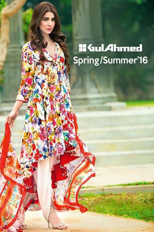Gul Ahmed Bamboo Silk Spring Summer Shades 2016