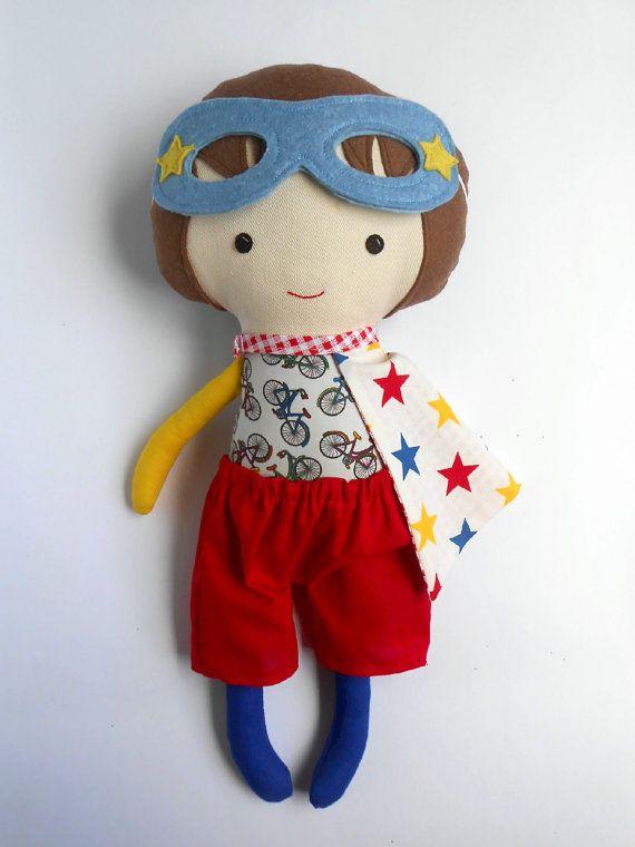 Superhero rag dolls for boys by LaLobaStudio #rag_doll #superhero #boydoll