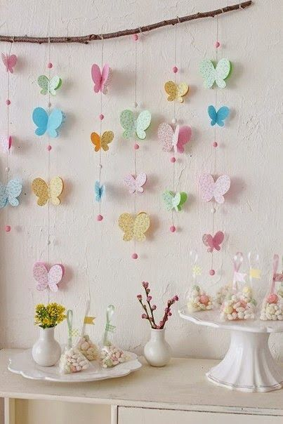 Interesting ideas for decor: Бабочки из бумаги. Butterflies of the paper.