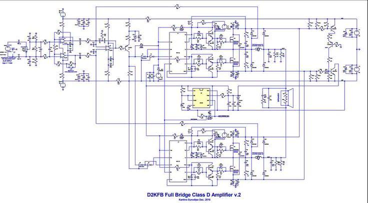 Power Amplifier Class-D Fullbridge D2K 2000Watts