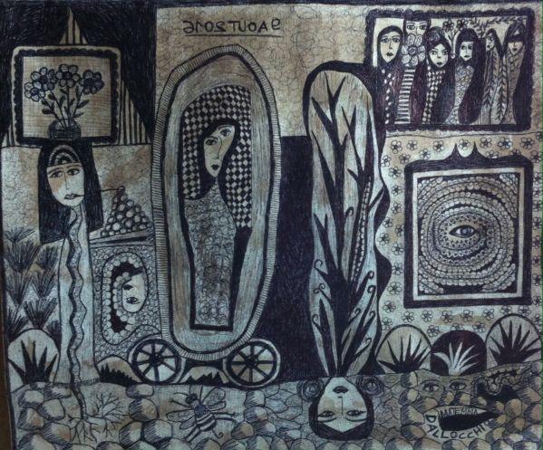 F.matemma Dall'occhio, née en 1961, France Self thaught artist