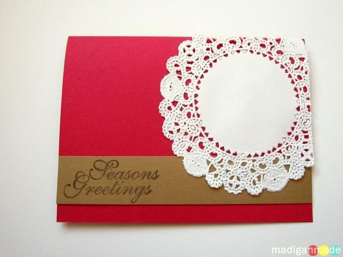 Two Simple DIY Christmas Card Ideas ~ Madigan Made { simple DIY ideas }