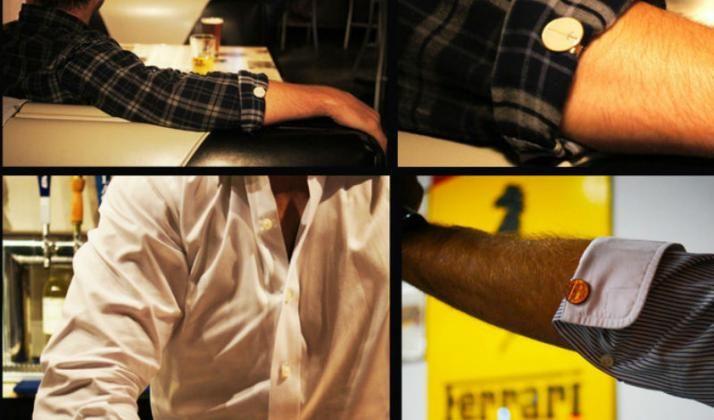 Clip para enrollar las mangas de tu camisa