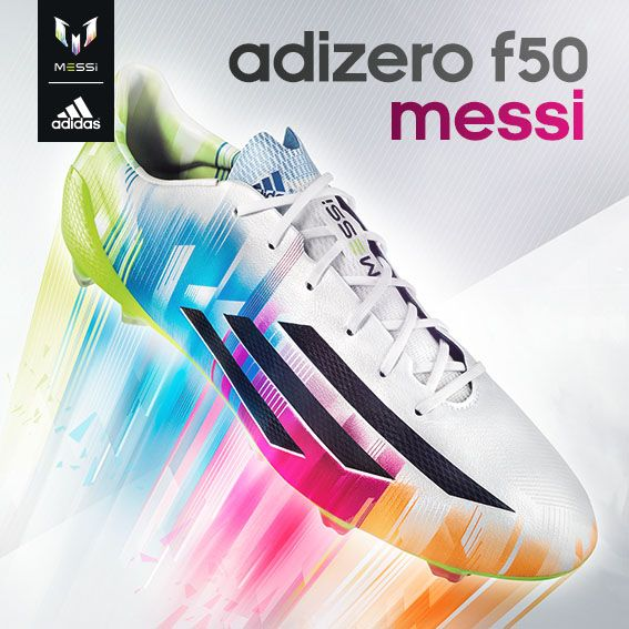 New cleat for Leo Messi! @adidas combines Samba colors into latest #Messi signature adizero #F50.