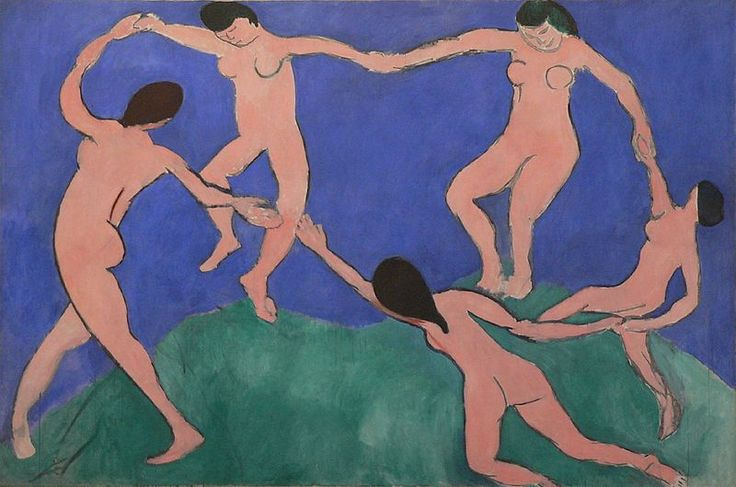 Flowing lines - The Dance by Henri Matisse, 1910.