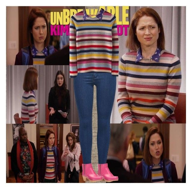 """Unbreakable Kimmy Schmidt~3x12~Kimmy and the Trolley Problem!"" by tvshowobsessed ❤ liked on Polyvore"