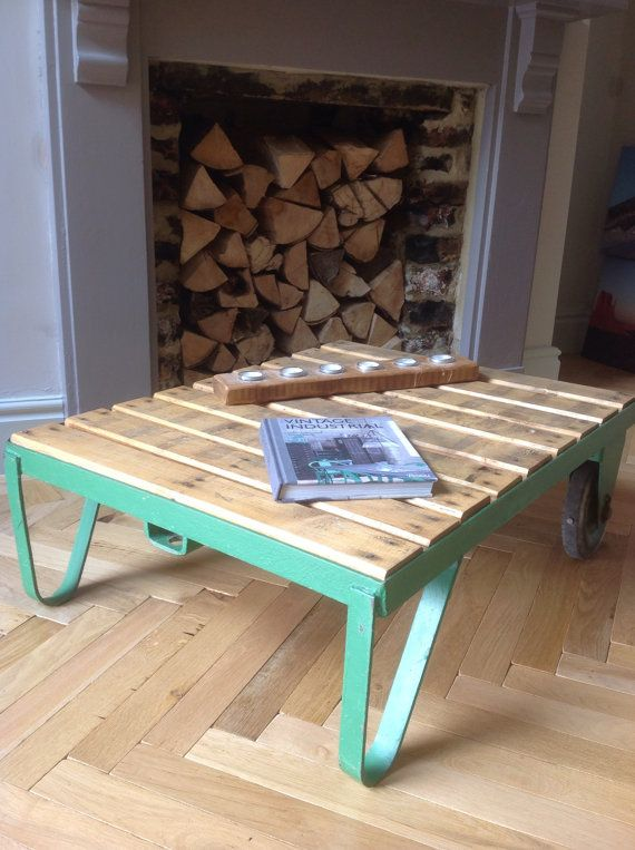 Industrial Vintage Coffee Table Made From An Original Pallet