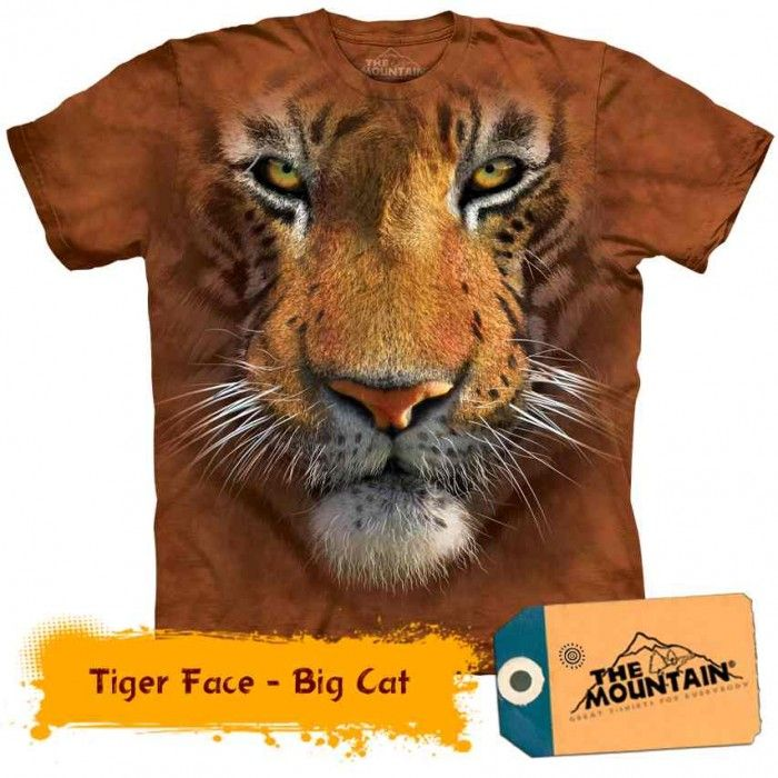 Tricouri The Mountain – Tricou Tiger Face Big Cat