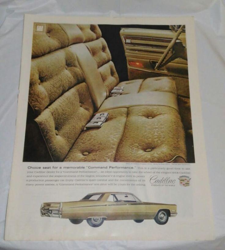 Vintage 1968 Decorative Cadillac Car Decor Magazine Print Ad FREE SHIPPING #Cadillac
