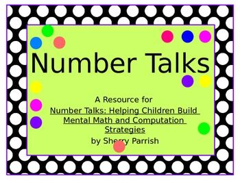 Number Talks - powerpoint with lots of dot cards.  Perfect for kindergarten.  54 pages. Number talk