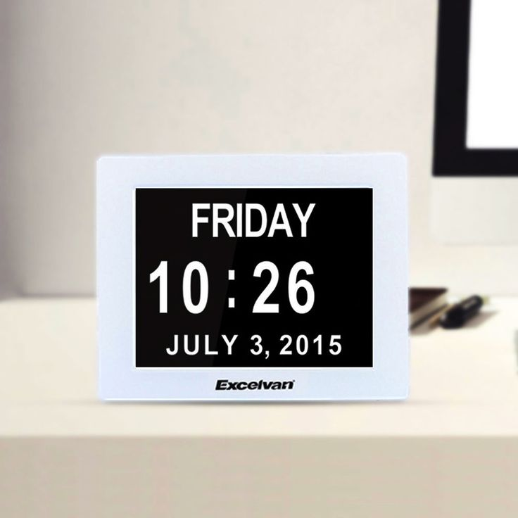 8u0027u0027 Extra Large Digital Calendar Alarm LED Clock Backlight Time Day Week  Month