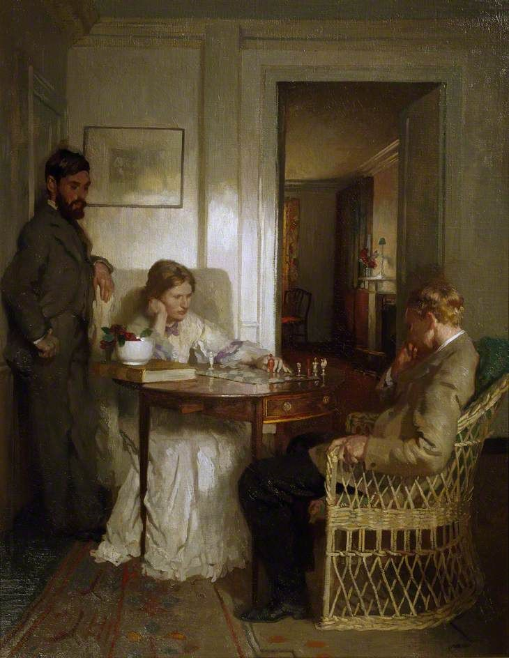 William Orpen (English, 1878–1931)   The Chess Players, 1902