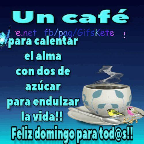 Un café para calentar el alma con dos de azúcar para endulzar la vida!! Feliz domingo para tod@s!!