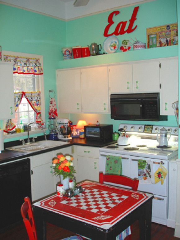 This not a trailer kitchen, but provides inspiration for one!