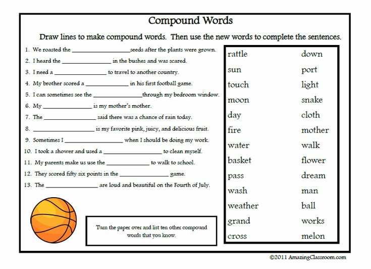 Worksheet Compound Nouns Worksheet 1000 images about classroom compound words teaching aids on words