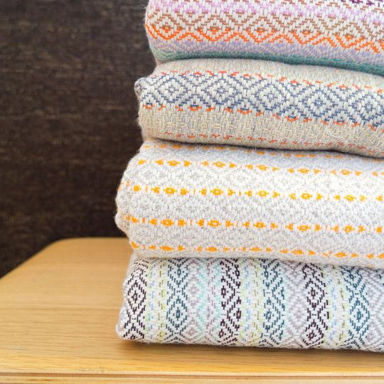 Handwoven Summer Blankets - I think I want these on my wedding registry.
