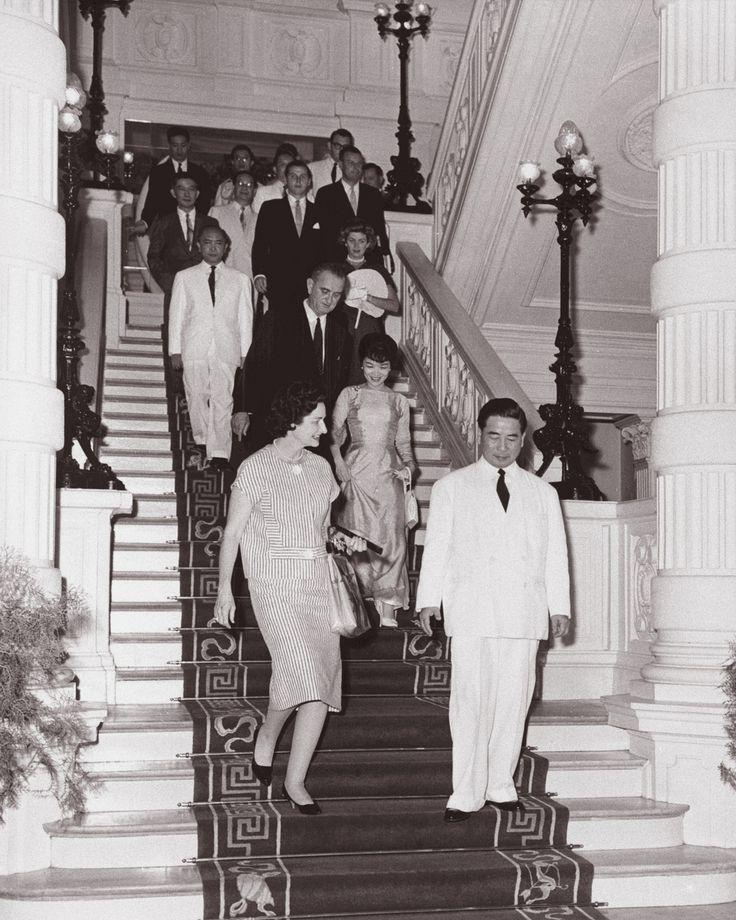 SAIGON (13 May 1961) - Vice President Lyndon B. Johnson's Far East Trip. Farewell breakfast with Ngo Dinh Diem | by manhhai