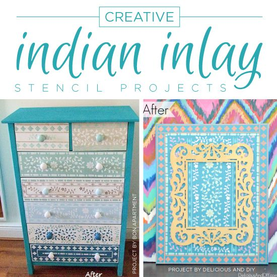 Diy Home Decor Indian Style Tutorial: Cutting Edge Stencils Shares DIY Home Decor Projects Using
