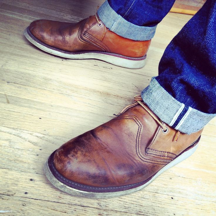 red wing chukkas with selvedge denim.  classic.