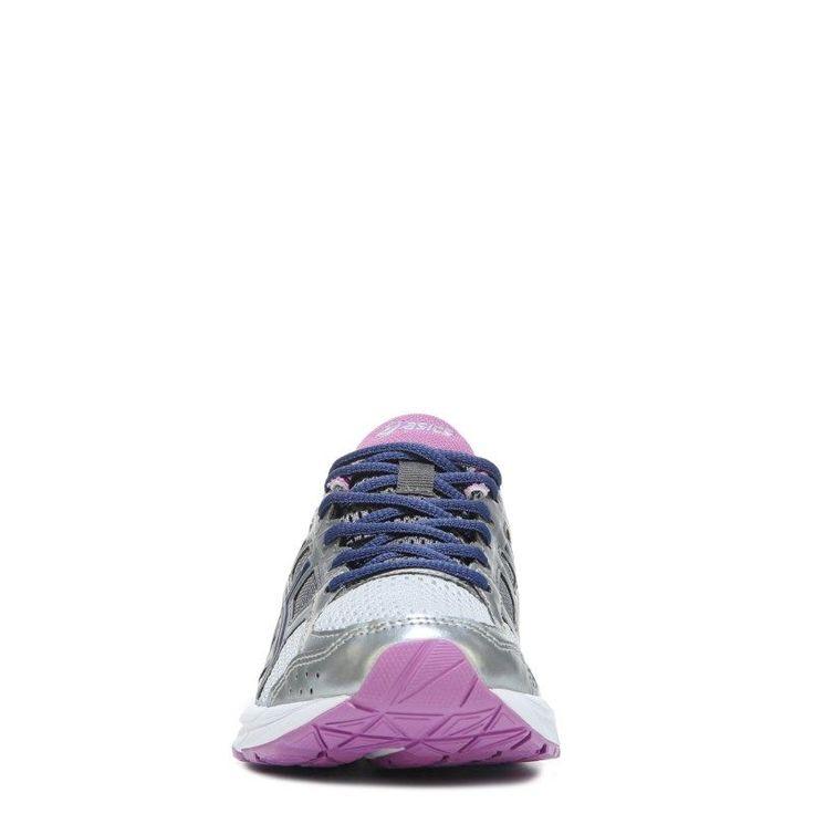 ASICS Women's Gel-Contend 4 Wide Running Shoes (Silver/Navy/Purple) - 12.0 W