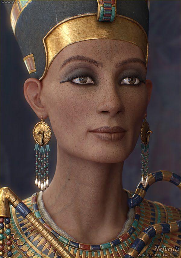 Queen Nefertiti | Nous avons pu retrouver une photo coincée sous les blocs de grès ...