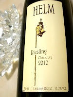 Wine: Helm Classic Dry Riesling 2010