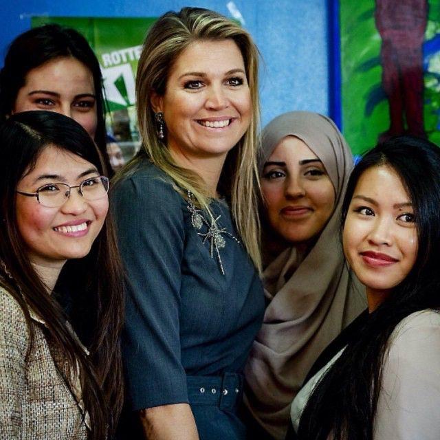 13-02-2015 Koningin Maxima bezoekt initiatieven Rotterdam's got talent en U-Turn.