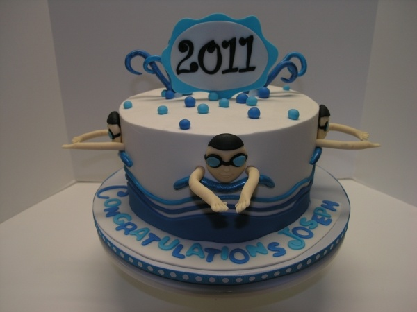 Swimmer Grad Cake
