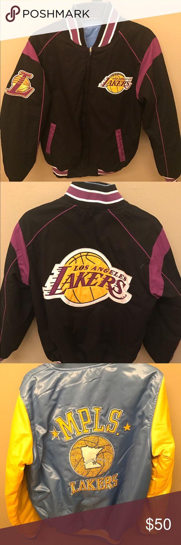 Size small Reversible lakers jacket Size small. Lightly worn. Jackets & Coats Bomber & Varsity