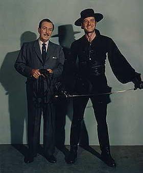 Walt Disney e Guy Williams nei panni di Zorro