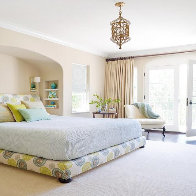 A serene, peaceful bedroom doesn't have to be boring. Here are ten bedrooms that show you how to create a soothing retreat.