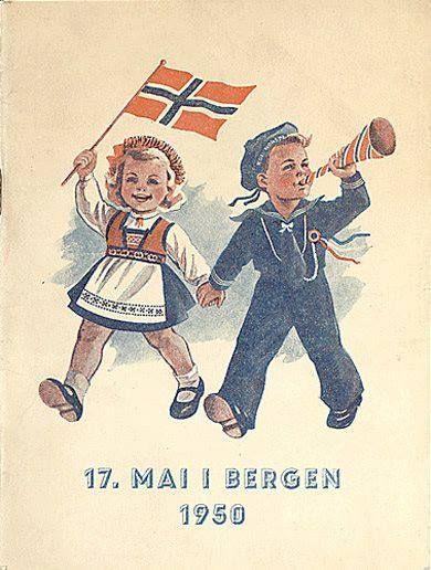 Norway najonal day 17 Mai in Bergen 1950