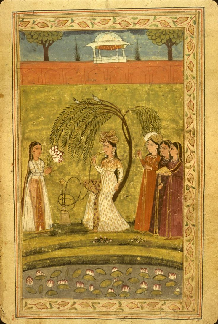 "Adhdhat al-nisā' ""The Enjoyment of Women"" translated into Persian from an Indian text by Ziyā' [al-Dīn] Nakhshabī. The style is 18th C. provincial Mughal work of N.W India, perhaps Kashmir."