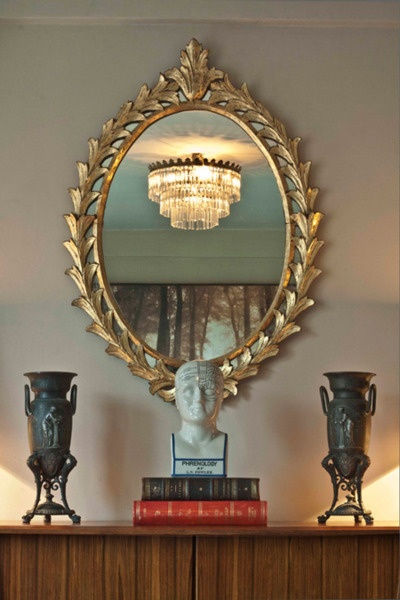 Oval Foyer Mirror : Just love this mirror home it s in the details