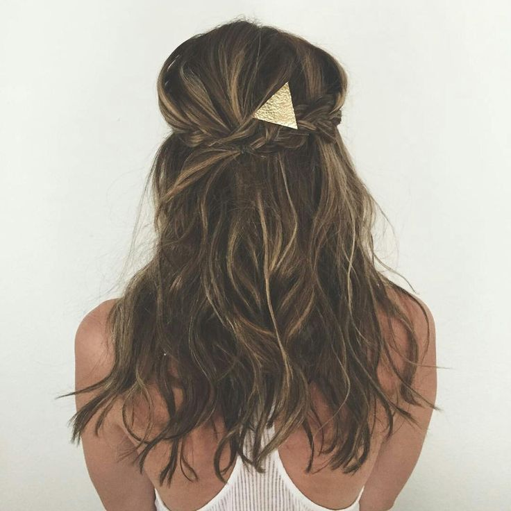 Add this beautiful gold hair stick to your up-do for a finished look.