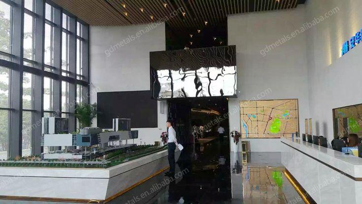 Lobby Hall stainless steel panel