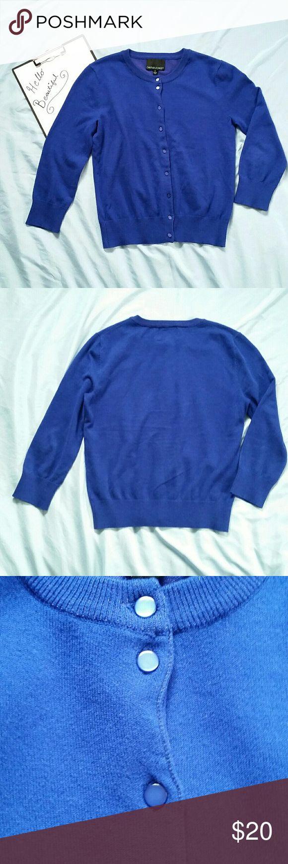 Selling this Royal Blue Cynthia Rowley Cardigan Sweater on Poshmark! My username is: _mandylou_. #shopmycloset #poshmark #fashion #shopping #style #forsale #Cynthia Rowley #Sweaters