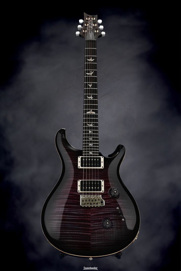 Solidbody Electric Guitar with Mahogany Body, Maple 10-Top, Flame Maple Neck, Rosewood Fingerboard, and 2 Humbucking Pickups - Violet Smokeburst