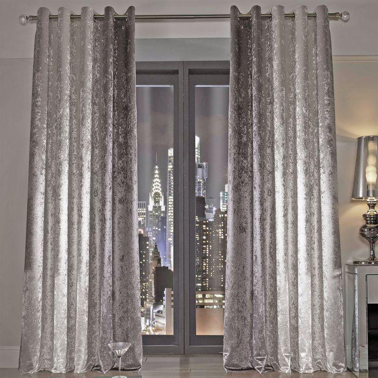 Kylie Minogue Natala Curtains, Silver U0026 Cream